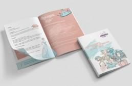 Zwerglparadies Nimas Broschüre Grafikdesign