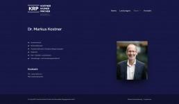 Webseite Kostner Rasner Pircher Rechtsanwälte KRP